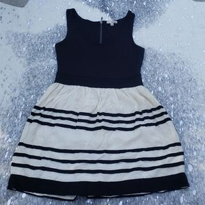 Bebop black and white dress